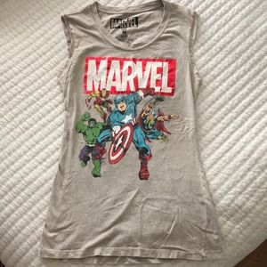 MARVEL sleeveless shirt with cut outs